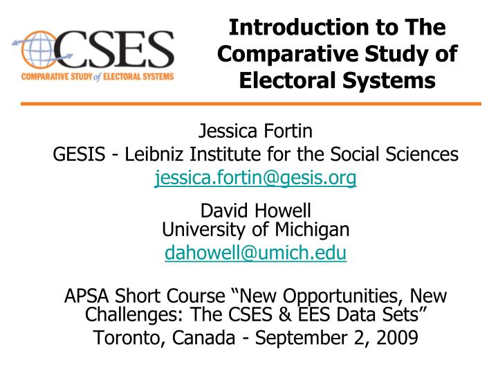 an introduction to the canadian electoral system