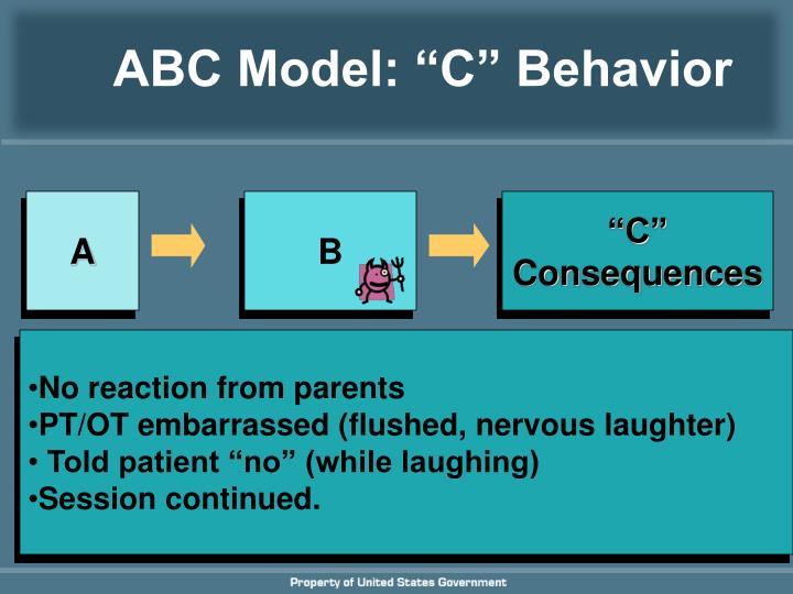 "ABC Model: ""C"" Behavior"