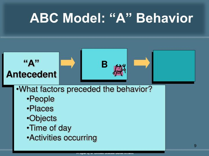 "ABC Model: ""A"" Behavior"
