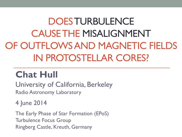 does turbulence cause the misalignment of outflows and magnetic fields in protostellar cores n.