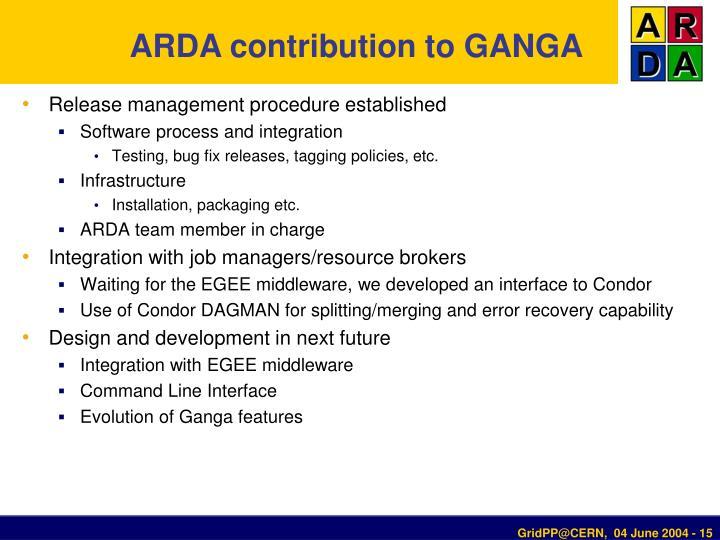 ARDA contribution to GANGA