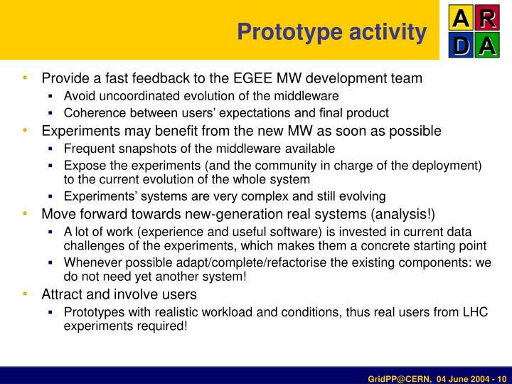 Prototype activity