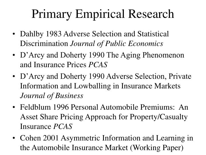 Primary empirical research