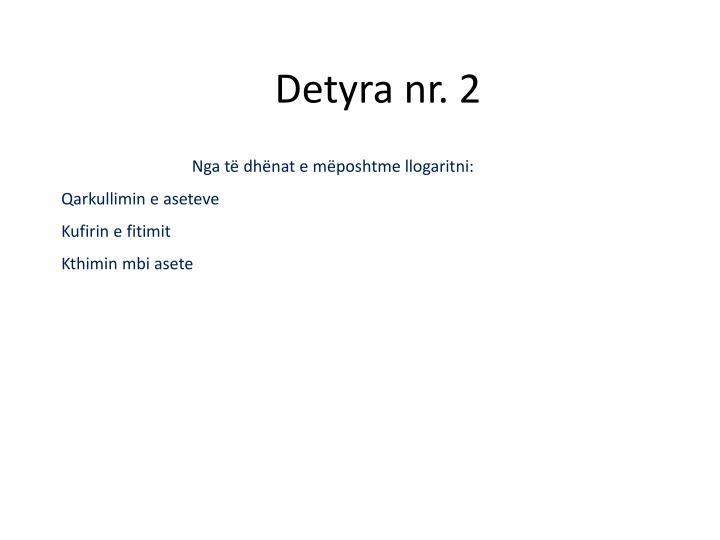 Detyra nr. 2