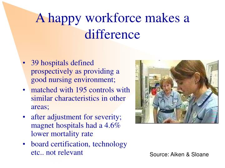A happy workforce makes a difference