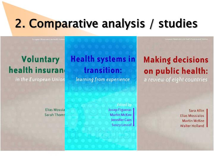 2. Comparative analysis / studies