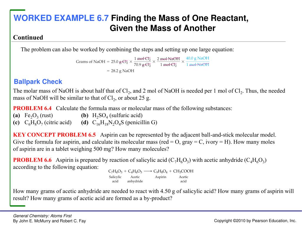 PPT - WORKED EXAMPLE 6 1 Balancing a Chemical Equation