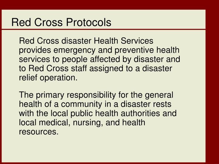 Red Cross Protocols