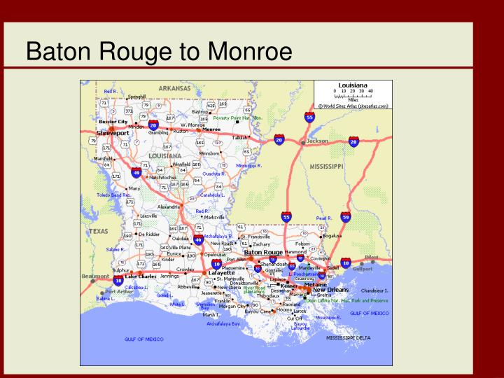 Baton Rouge to Monroe