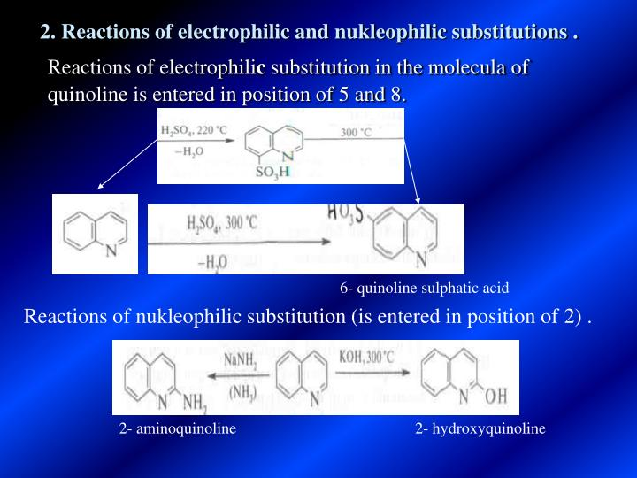 2 Reactions Of Electrophilic And Nukleophilic Substitutions