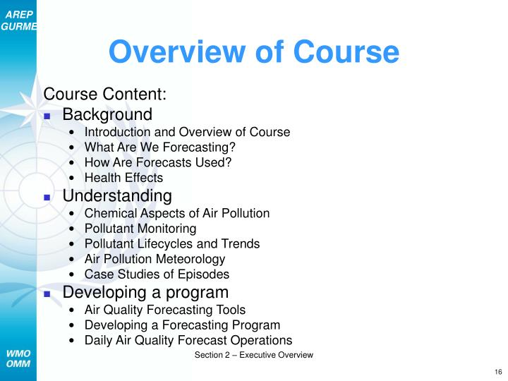 Overview of Course