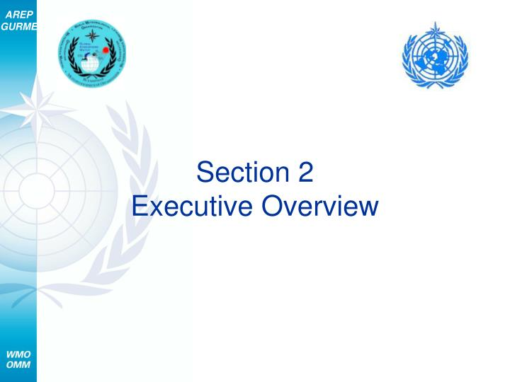 Section 2 executive overview