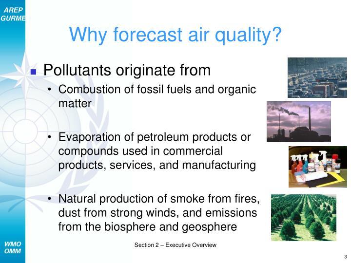 Why forecast air quality
