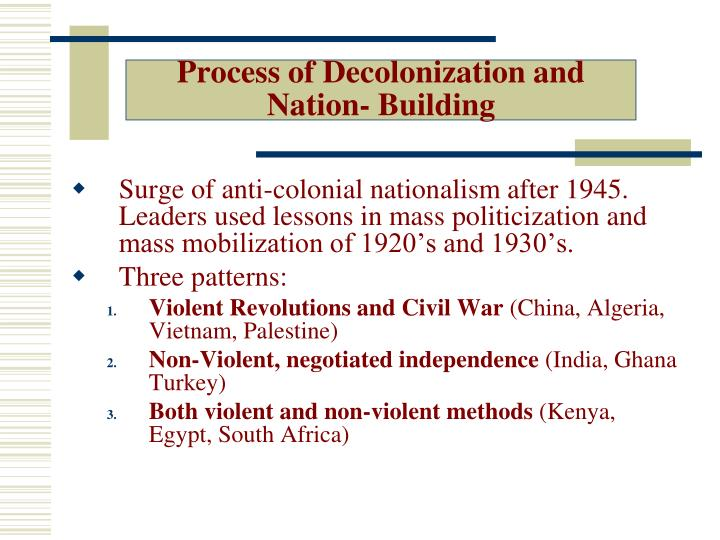 Process of Decolonization and Nation- Building