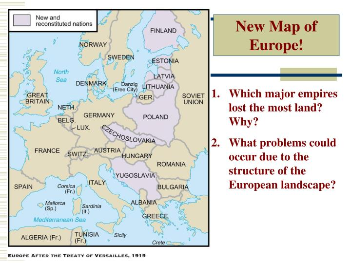 New Map of Europe!