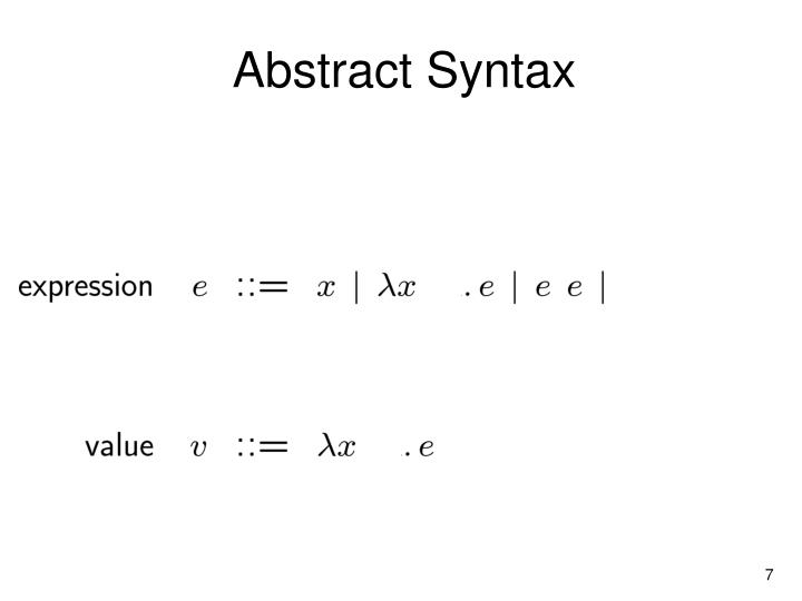 Abstract Syntax