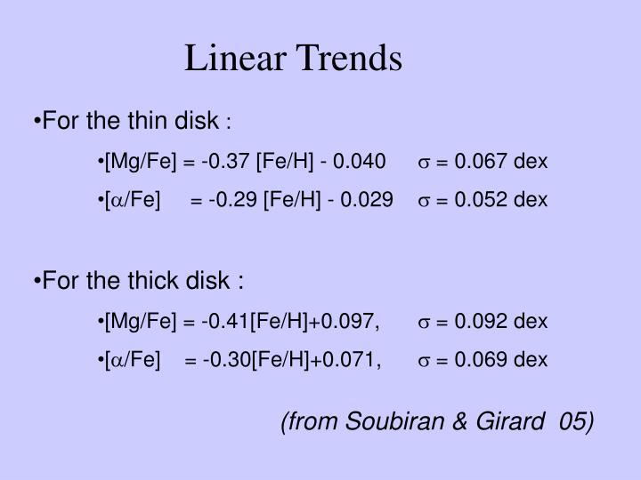 Linear Trends