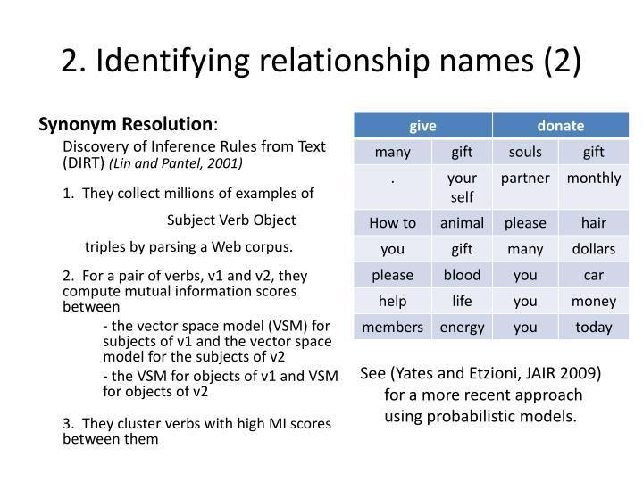 2. Identifying relationship names (2)