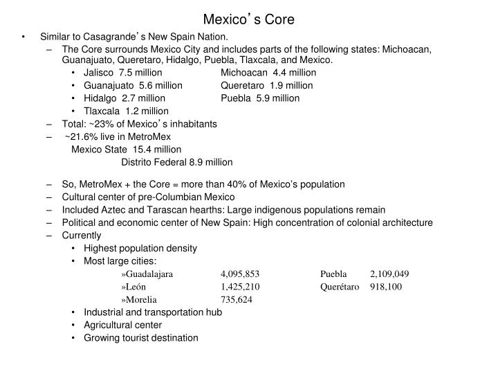 mexico s core n.