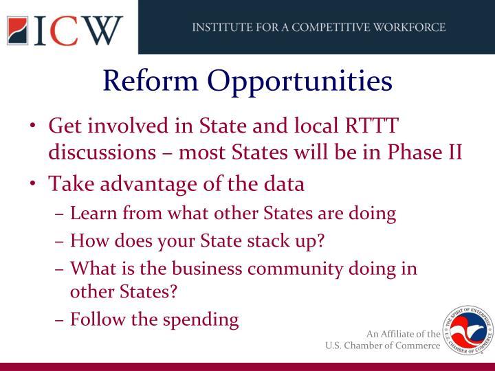 Reform Opportunities