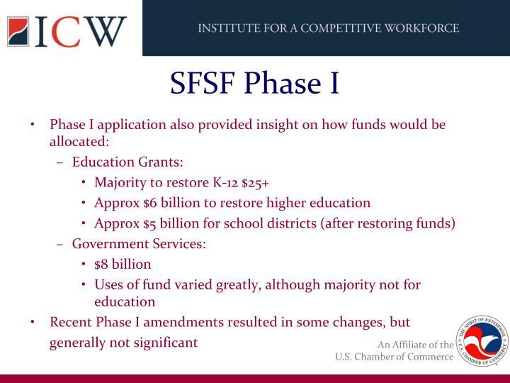SFSF Phase I