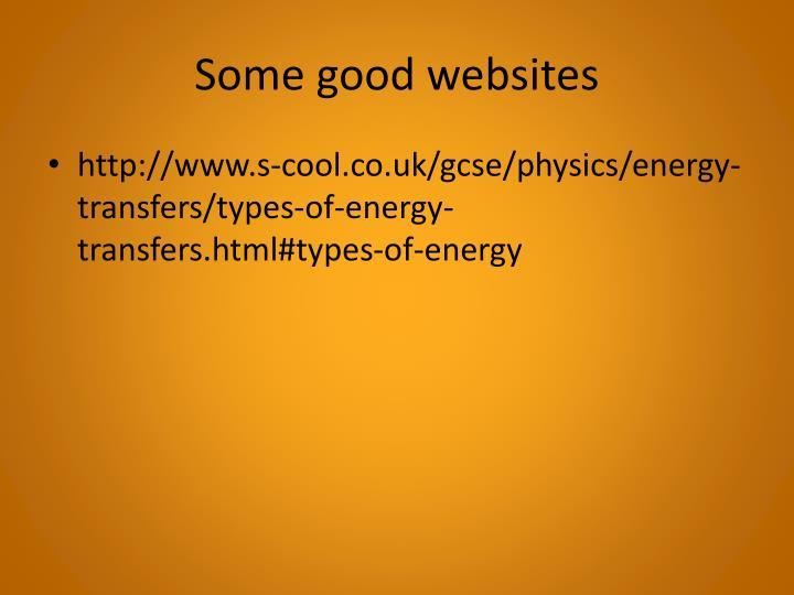 Some good websites
