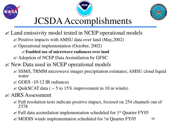 JCSDA Accomplishments