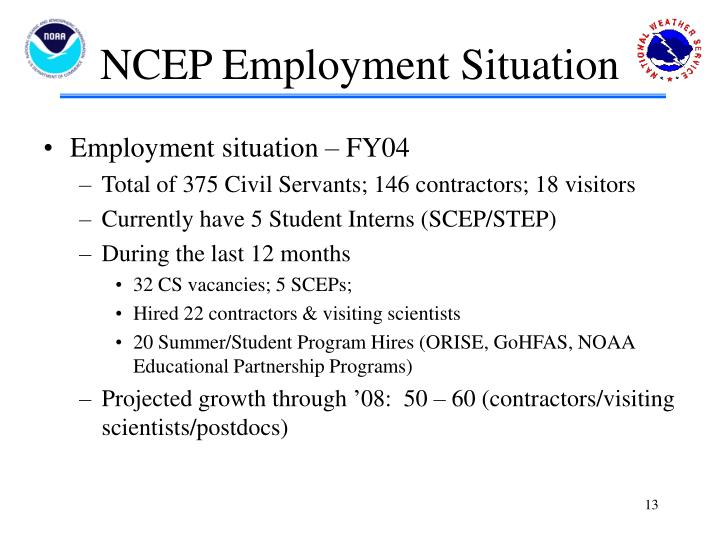 NCEP Employment Situation