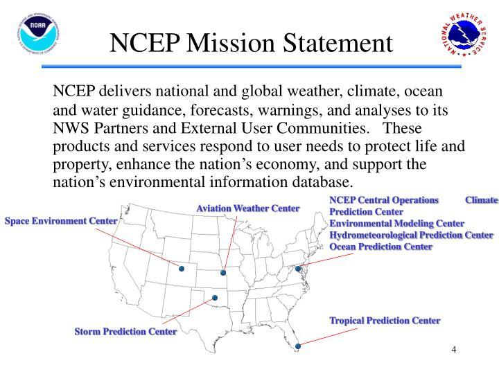 NCEP Mission Statement