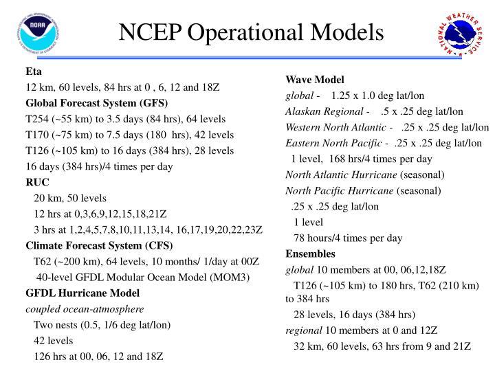 NCEP Operational Models