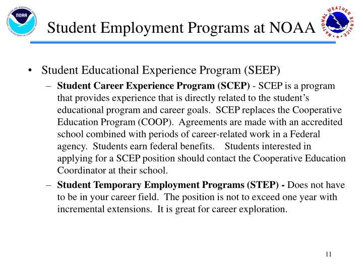Student Employment Programs at NOAA