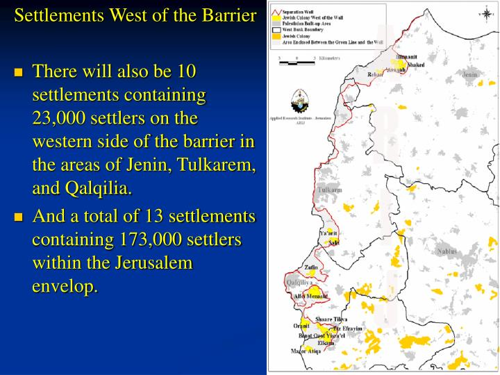 Settlements West of the Barrier