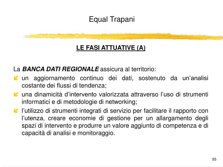 LE FASI ATTUATIVE (A)