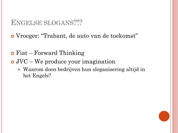 Engelse slogans?!?