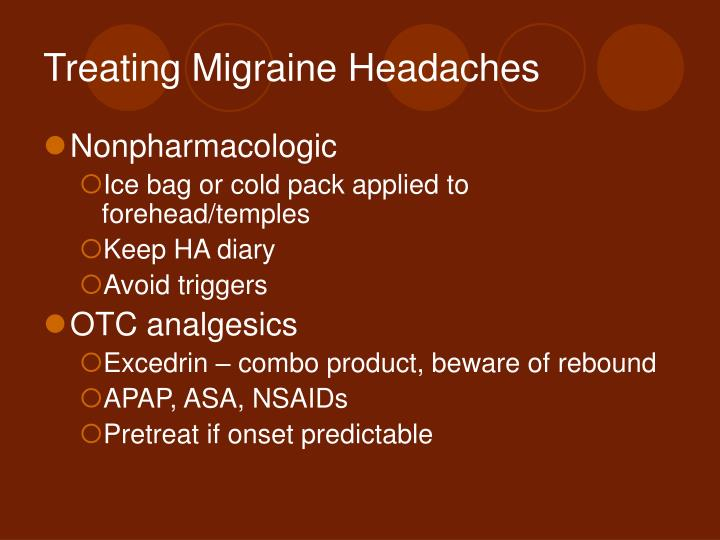 Treating Migraine Headaches
