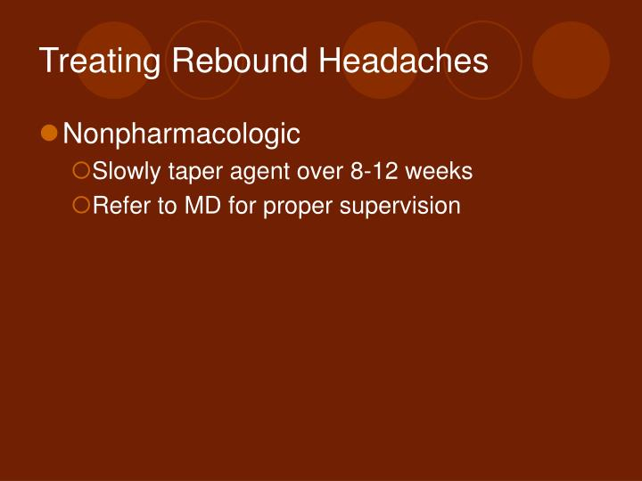 Treating Rebound Headaches