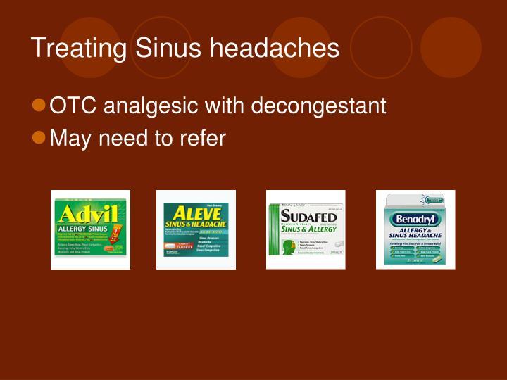 Treating Sinus headaches