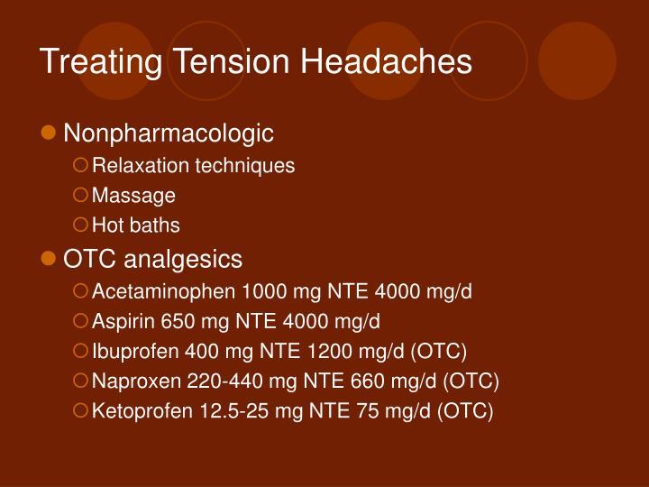 Treating Tension Headaches