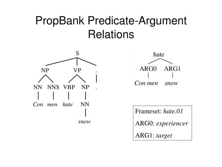 PropBank Predicate-Argument Relations