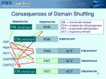 consequences of domain shuffling