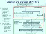 creation and curation of pirsfs