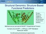 structural genomics structure based functional predictions