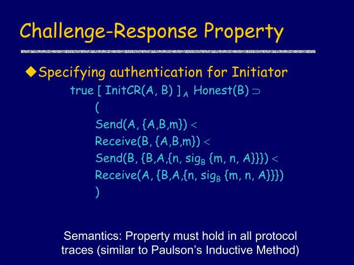 Challenge-Response Property