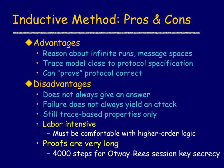 Inductive method pros cons