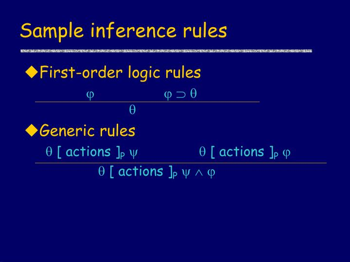 Sample inference rules