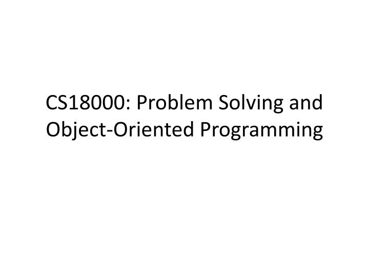 solving transportation problem using object oriented model Object problems are easier to solve than people problems people who anticipate potential problems are generally thought to be negative t t f thank you  problem solving guide example of synergies between tools  microsoft powerpoint - lean problem solving zele 1107pptx author.