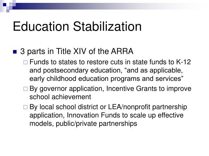 Education Stabilization