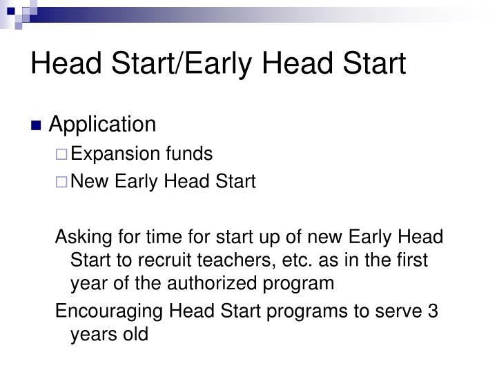 Head Start/Early Head Start