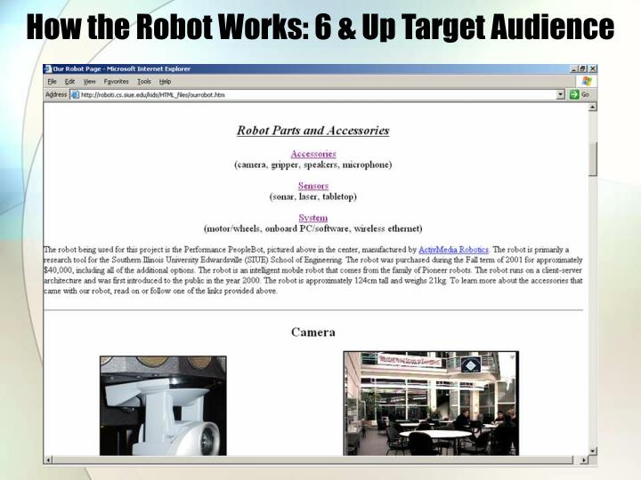 How the Robot Works: 6 & Up Target Audience