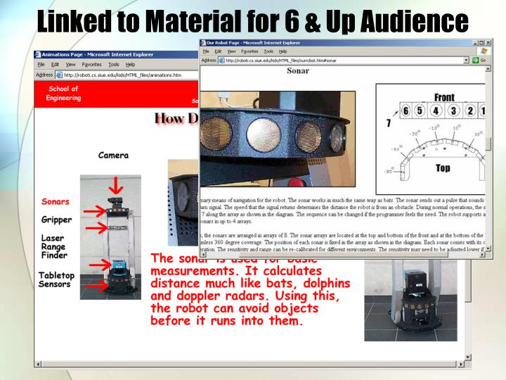 Linked to Material for 6 & Up Audience